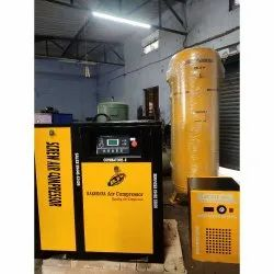 10 HP Rotary Screw Air Compressor With Vertical Receiver