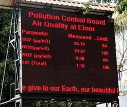 Weather / Pollution Information Display Screen