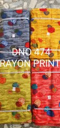Discharge Printed Rayon Fabric, Weight: 140, Width: 43