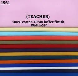 Teacher 100% cotton laffer finish shirting fabric