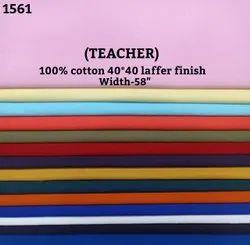 Teacher 100% cotton laffer finish shirting fabric