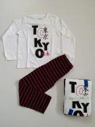 Cotton Mixed Kids Boys Stocklot Garments, Kids Boys &Girls Pyjama set