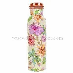 Floral Printed Copper Bottles