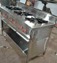 3 Burner Commercial Gas Stove, For Kitchen