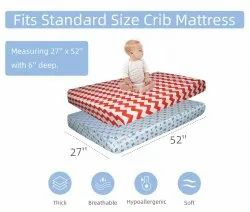 Cotton Fitted Cot Sheet For Baby Crib -Super Soft, Smooth Fabric For Infants, Newborns