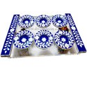 Acrylic & Mother Of Pearl Coaster Tray Set