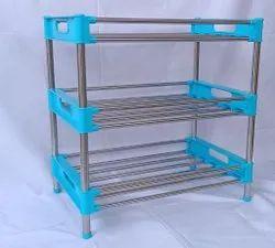 Blue, Pink Plastic Multi Purpose Storage Racks, For Home