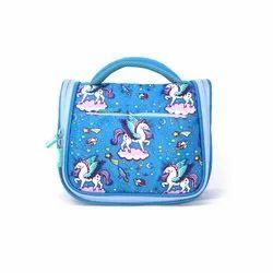 Polyester Smily Kiddos Cosmetic Bag - Light Blue