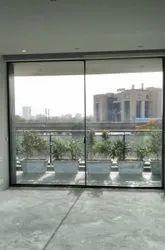 Monarch Steel Black Aluminum Sliding Glass Doors, For Home