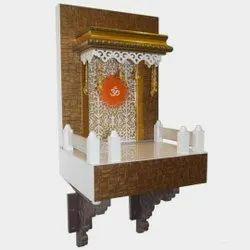 Brown Traditional Decorative Wooden Mini Temple