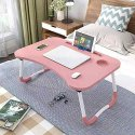 Smart Multipurpose Foldable Laptop Table with Cup Holder, Study Table, Foldable