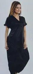 Satin Half Sleeves Women's Patiala Nightsuit, Size: FREE SIZE