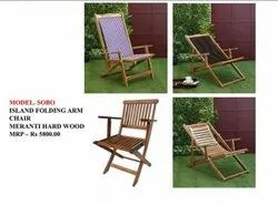 Brown Modern ISLAND FOLDING ARM CHAIR, For Event