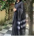 Own Border Designer Cotton Saree, With Blouse Piece, 6.3