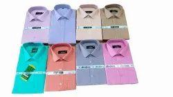 Enzo Collar Neck Men Plain Cotton Casual Shirt, Machine wash