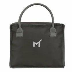 Polyester Plain SMS Bag House Tiffin Bag & Waterproof Makeup Kit Bag (Grey)