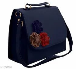 Hand Handled Pu Leather Women Sling Bag For Casual Wear