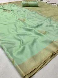 Rajtex Zari Banarasi Silk Heavy Festival Wear Sarees, With Blouse Piece
