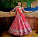 Present Tafeta Silk Lahenaga Choli With  Hevay Embroidery Work