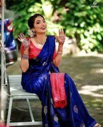 Ppresent Soft Lichi Silk Saree Beautiful Rich Pallu & Jacquard Work