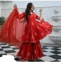 Present Georgette With Embroidery Work  Sarara Suit