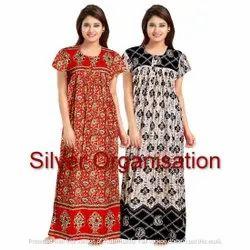 Multicolor Women Long Gown, Size: Free Size