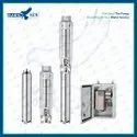 6 3HP DC Solar Submersible Pump Set With Controller