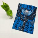 Full Length Blue Stylish Printed Rayon Nighty