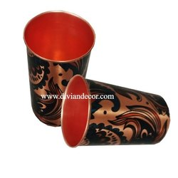 Minakari Printed Pure Copper Glass
