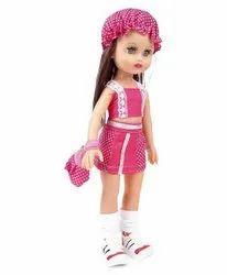 Nylon Pink Ahna Baby Doll Dress, Size: Medium