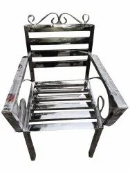 Silver Stainless Steel Waiting Chair, Seating Capacity: 1 Seater