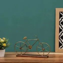 Iron Golden Decorative Table Top Cycle