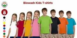 Cotton Casual Wear Kids Round Neck T Shirt, Size: 3-5 Years