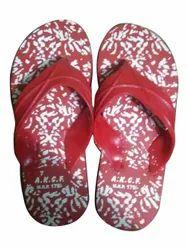 Red and White Mens Daily Wear EVA Slipper