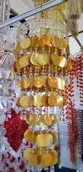 Pvc Golden Decorative Sitara Jhumar, Size/Dimension: 3 Feet