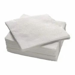 Paper Plain White Napkin, For Wiping Mouth And Fingers, Size: 27 X 27 Cm