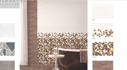 Sunwell Glossy Ceramic Bathroom Tile, Thickness: 8 mm