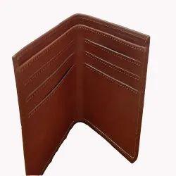 Brown Bi Fold Men Leather Finished Wallet, Card Slots: 7