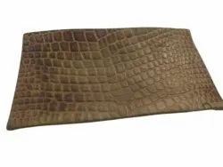 Plain Brown Finished Buff Leather, Thickness: 2 Mm