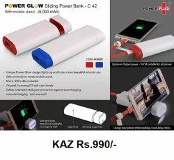Power Glow Sliding Power Bank With Mobile Stand
