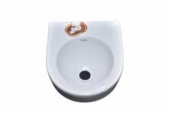Ceramic Wall Mounted Round Shape Sink, For Bathroom