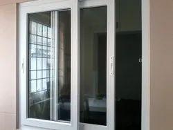 White 5 feet UPVC Glass Sliding Door, For Home