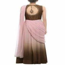 Golden Ladies Designer Gown