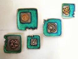 Terracotta Decoration Walll Plates, For Exterior Decor, Square