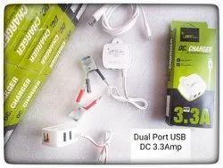 3.3 Amp JMT Power  Dual USB DC Charger