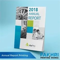 Graphic Designing Paper Annual Report Printing Services, in Local, Dimension / Size: A4