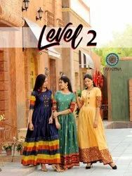 Aradhna Fashion Level Vol 2 Heavy Cotton Long Kurti Catalog