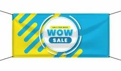 Multicolor PVC Star Flax Banner Printing Service