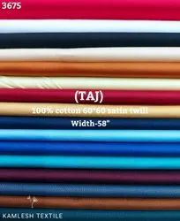 Taj 100% Cotton Satin Twill Shirting Fabric