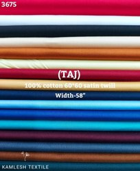 Taj 100% Cotton Satin Twill Shirting Fabric